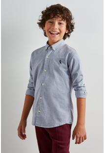 Camisa Mini Oxford Ml Reserva Mini Azul Marinho
