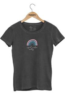 Camiseta Forseti Estonada Good Vibes Chumbo - Kanui