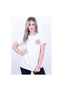 Camiseta Bilhan Corte A Fio Perfection Is Boring Pqn Branca