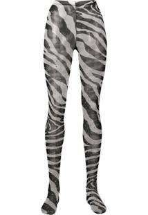 Dolce & Gabbana Zebra Print Tights - Preto