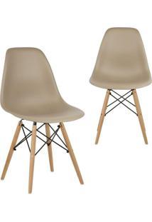 Kit 2 Cadeiras Mpdecor Eiffel Charles Eames Nude