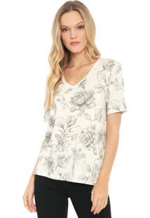 Camiseta Lez A Lez Floral Off-White