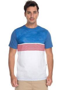 bbcceb6d4dec5 Camiseta Quiksilver Esp Digital Town Dark Denin Masculina - Masculino-Azul +Branco