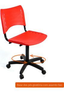 Cadeira De Escritório Secretária Giratória Evidence Fixa Vermelho
