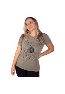 Camiseta Birdz Estampada Marrom