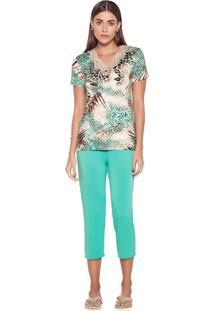 Pijama Jade Pescador - J760 Verde/P
