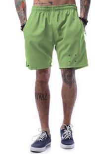 Bermuda Tactel Cellos Cross Arrows Premium Masculina - Masculino-Verde