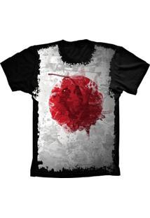 Camiseta Baby Look Lu Geek Flag Japáo Preto - Tricae