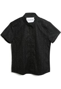 Camisa Calvin Klein Kids Menino Lisa Preta