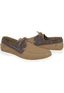Mocassim Couro Shoes Grand Dockside Masculino - Masculino-Caramelo+Marrom