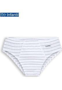 Cueca Slip Lupinho 140-001 Infantil 1460-Branco