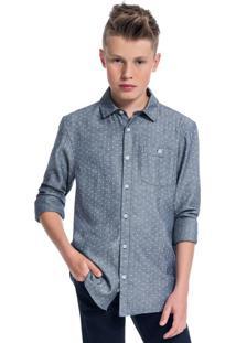 Camisa Teen Masculina Marinho