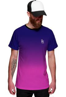 Camiseta Roxa E Azul Di Nuevo Degradê Purple And Blue