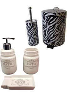 Kit Wincy Para Banheiro 5 Peças Lixeira Saboneteira Porta Escova Sabão Liquido - Deca R008