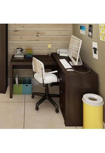 Escrivaninha/Mesa Para Computador 3 Gavetas Me4101 Tabaco - Tecno Mobili
