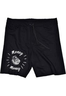 Bermuda Tecido Skull Clothing Money Preto - Preto - Masculino - Dafiti