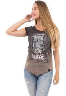 Camiseta Aes 1975 Stay Tuned Ii Feminina - Feminino-Preto
