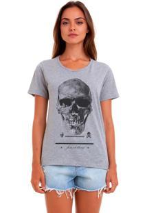 Camiseta Basica Joss Caveira Premium Cinza