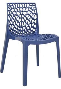 Cadeira De Jantar Gruvyer Azul Avio