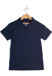 Camisa Polo Infantil Rovitex Marinho - 12