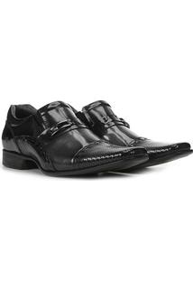 Sapato Social Couro Rafarillo Las Vegas Masculino - Masculino-Cinza