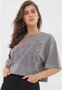 Camiseta Cropped Forum Aplicações Cinza - Kanui