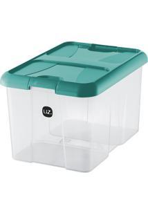 Caixa Organizadora Plus Verde-Água 22 L