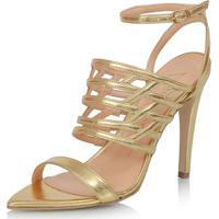 282d3654f Sandália Dourada Luiza Barcelos feminina | Shoes4you