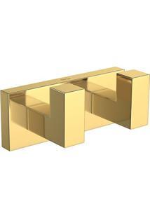 Cabide Duplo Quadratta Gold - 2062.Gl83 - Deca - Deca