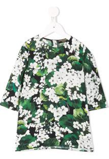 Dolce & Gabbana Kids Blusa Floral - Green