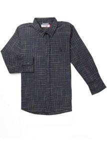 Camisa Mini Pf Ft Xadrez Bicolor Reserva Mini Azul