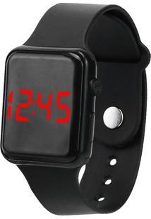 Relógio Digital Led Preto - Kanui