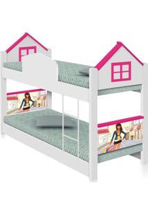Beliche Infantil Casa Menina Moã§A Com Colchãµes Casah - Branco/Rosa - Menina - Dafiti