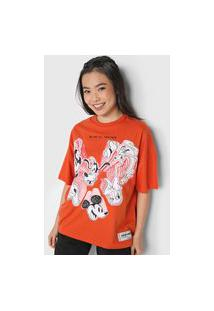 Camiseta Colcci Disney Laranja