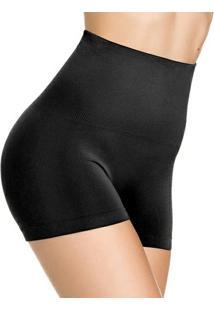 Calcinha Modeladora Boxer Sem Costura - Feminino-Preto