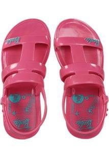 Sandália Infantil Grendene Barbie Iate Feminina - Feminino-Pink