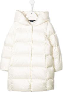 Ralph Lauren Kids Hooded Puffer Coat - Branco
