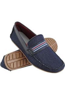 Mocassim Drive Euro Flex Casual Jeans Confortável Leve Macio Masculino - Masculino