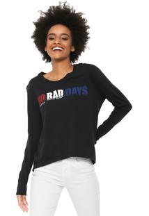 Camiseta Calvin Klein Jeans No Bad Days Preta