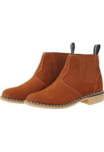 Bota Pessoni Boots & Shoes Couro Ziper Lateral Marrom - Marrom - Masculino - Dafiti