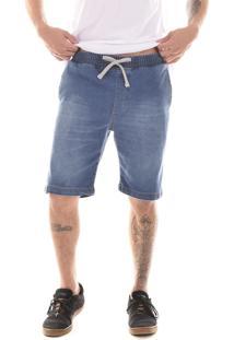 Bermuda Jeans Lorsa Com Elástico