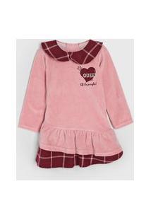 Vestido Infantil Plush Rosa