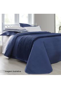 Conjunto De Cobre-Leito Palace Queen Size- Azul Escuro &Sultan