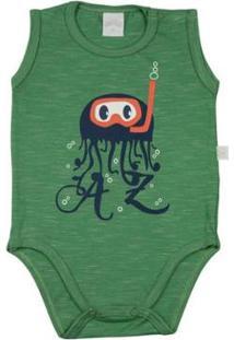 Body Infantil Ano Zero Millecolor - Masculino-Verde