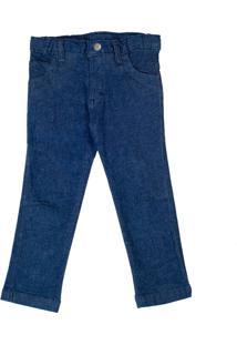 Calça Jeans Com Elastano Bebê Lazy