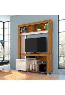 Estante Para Home Theater E Tv Até 42 Polegadas Flávia Naturale E Off White