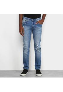 Calça Jeans Calvin Klein Puídos Masculina - Masculino