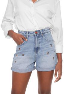 Short Jeans Desigual Leopard Azul