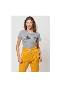 Camiseta Jay Jay Basica Infinite Cinza Mescla Dtg