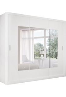 Guarda-Roupa Casal Com Espelho Veneza Top Branco 3 Pt 4 Gv